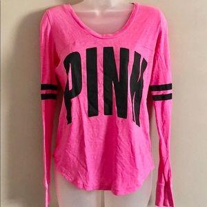 Victoria's Secret PINK long sleeve logo XS